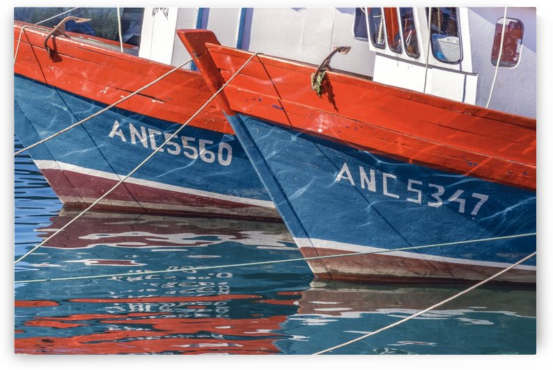 Fishing Boats Parked at Lake, Chiloe Island   Chile by Daniel Ferreia Leites Ciccarino