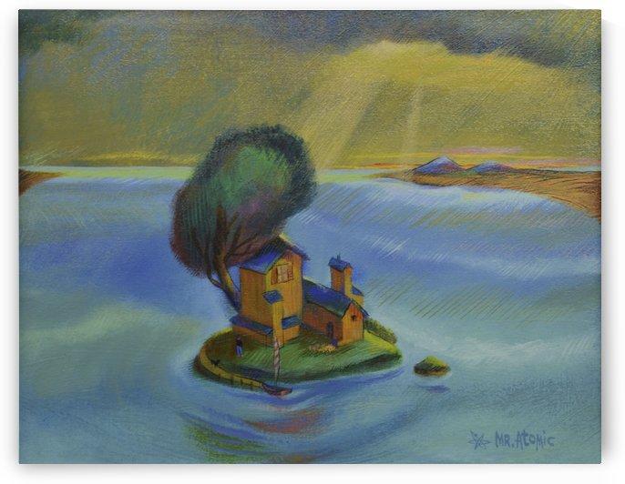 The Island Getaway by Mr  Atomic Art