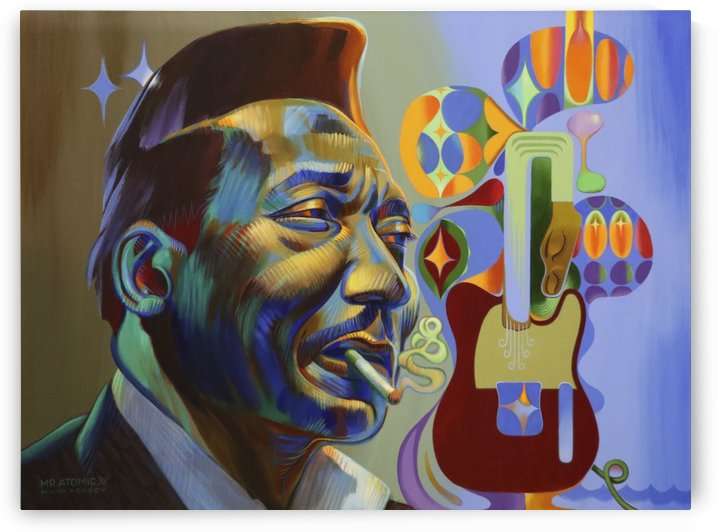 Muddy Waters Blue Man by Mr  Atomic Art