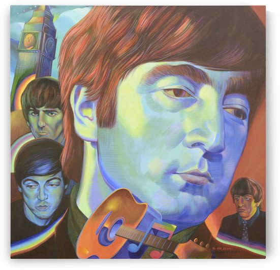 The Fab Beatles by Mr  Atomic Art