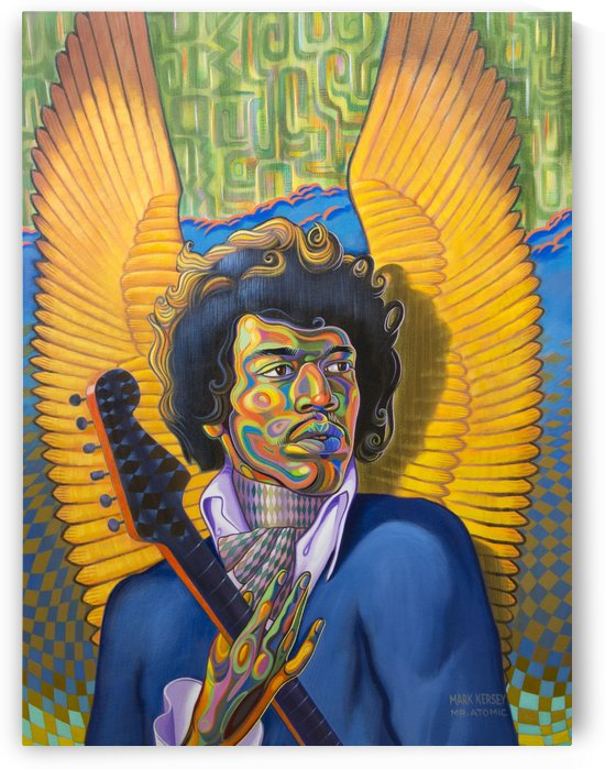 Little Wing Jimi Hendrix by Mr  Atomic Art