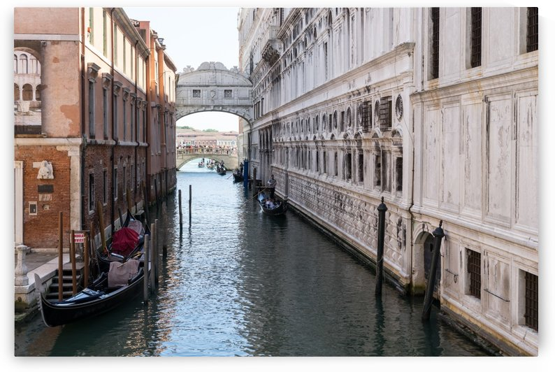 Classic Venetian - Gondolas Under the Bridge of Sighs by GeorgiaM