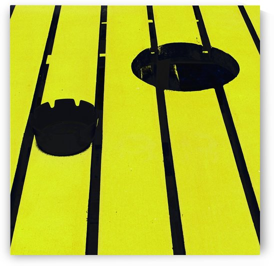 Yellow - urban pop art - square by Filip Patock
