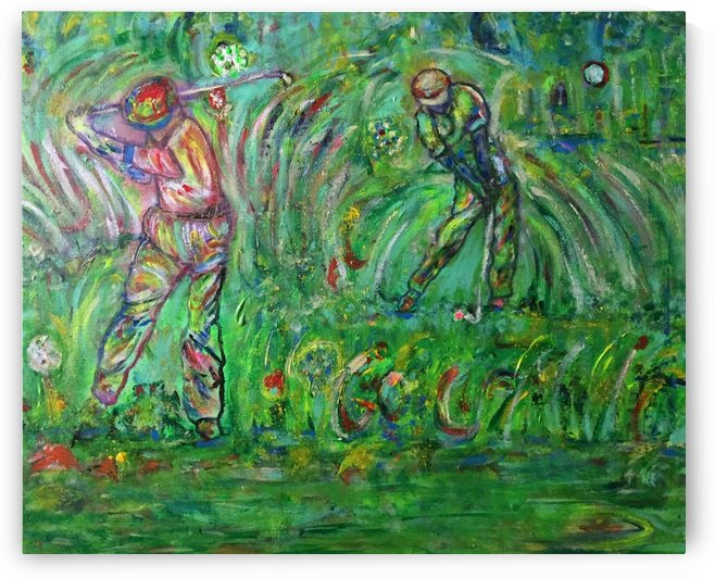 golfers  in action   by Linda naili