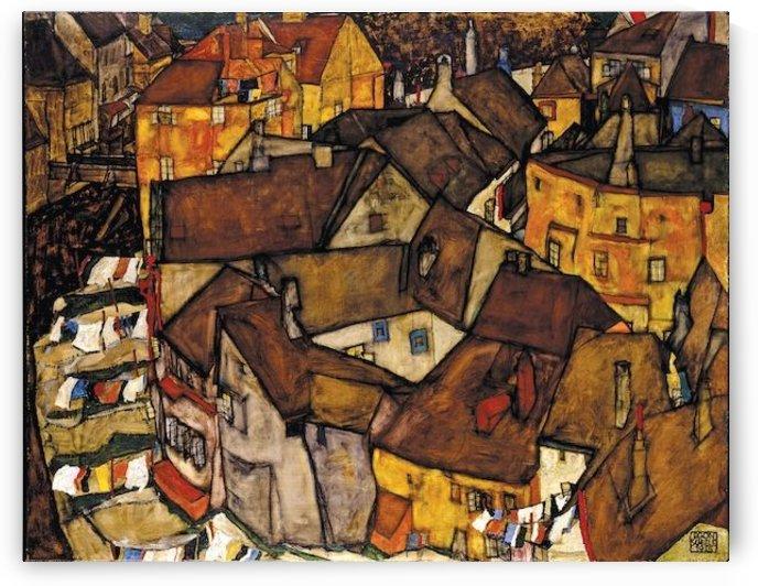 Egon Schiele - Crescent of Houses by Egon Schiele