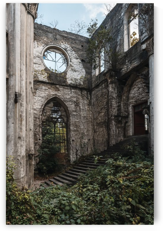 Abandoned Church Overgrown Footsteps by Steve Ronin