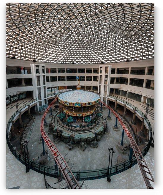Abandoned Carousel Inside Dead Mall by Steve Ronin