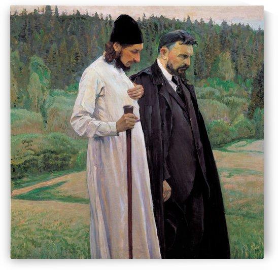 Portrait of Sergei Bulgakov and Pavel Florenskiy by Mikhail Nesterov