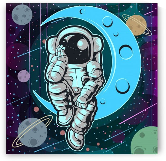 astronaut full color by Shamudy