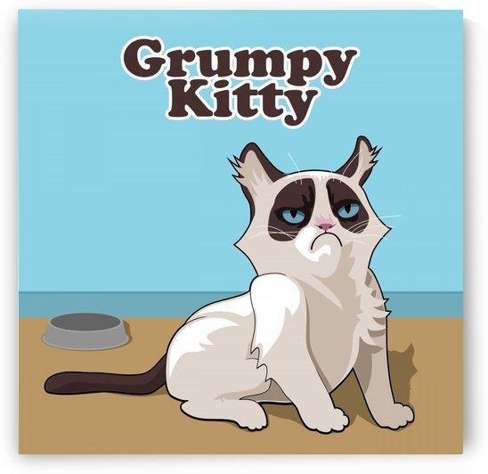 Grumpy kitty cat mieze pet animal portrait by Shamudy