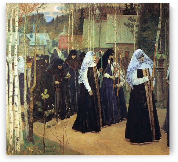 The Taking of the Veil by Mikhail Nesterov