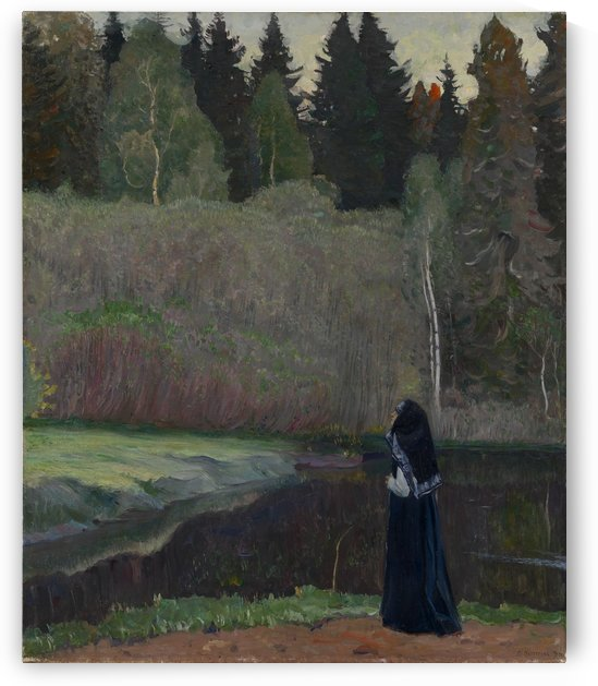 The Nightingale is singing by Mikhail Nesterov