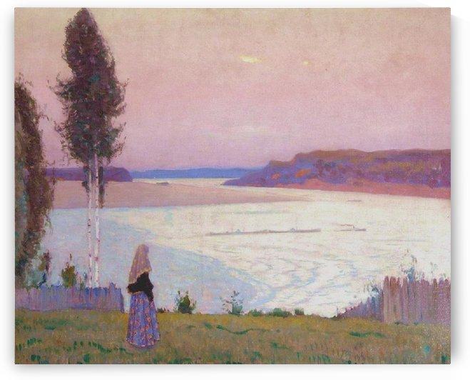 Evening Solitude on the Volga by Mikhail Nesterov