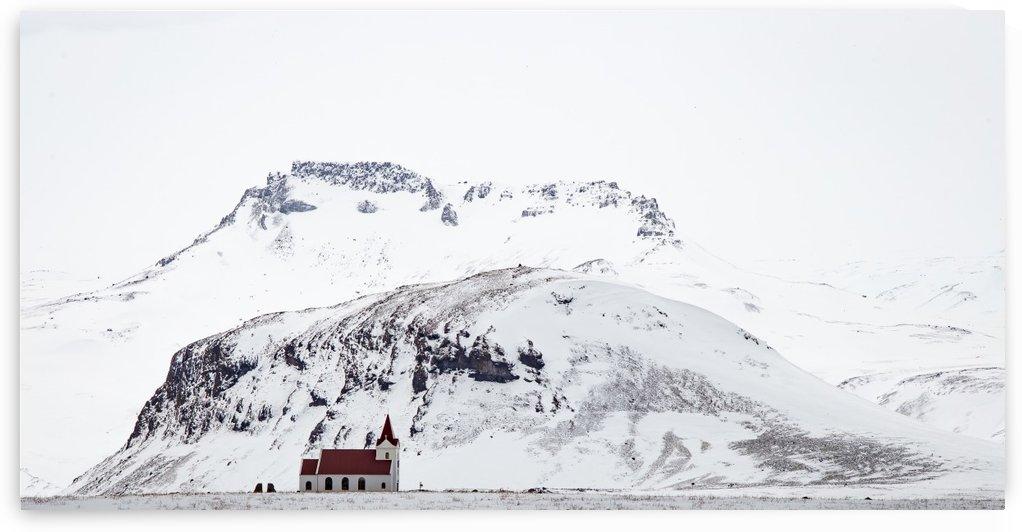 Distant Iceland Church by Dan Fleury