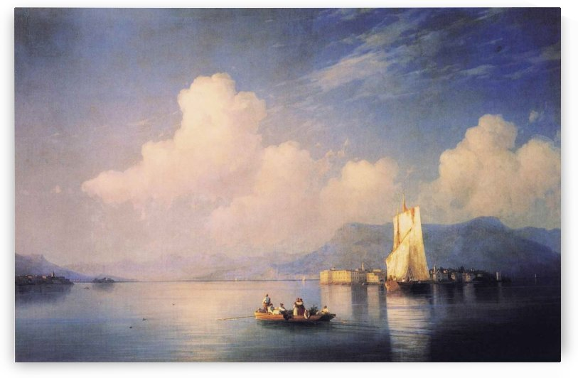 Lake Maggiore in the Evening by Ivan Aivazovsky