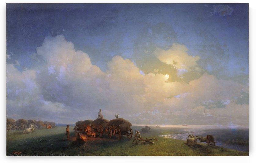Chumaks leisure by Ivan Aivazovsky