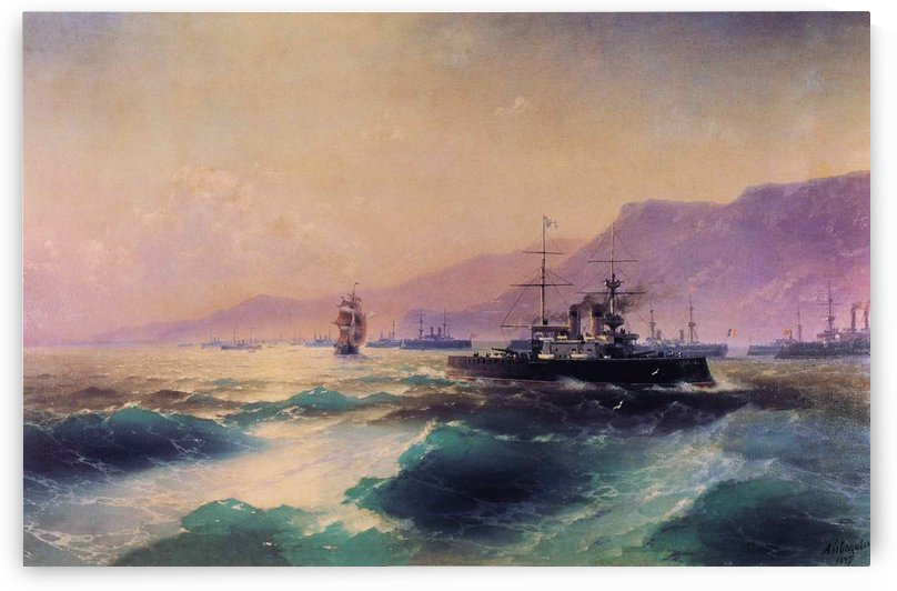 Gunboat off Crete by Ivan Aivazovsky
