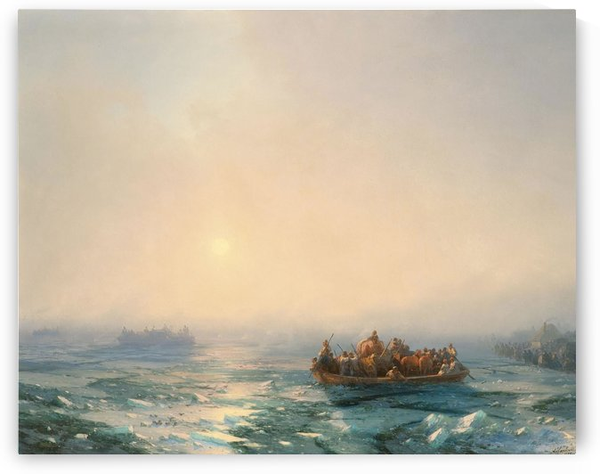 Ice in the Dnieper by Ivan Aivazovsky