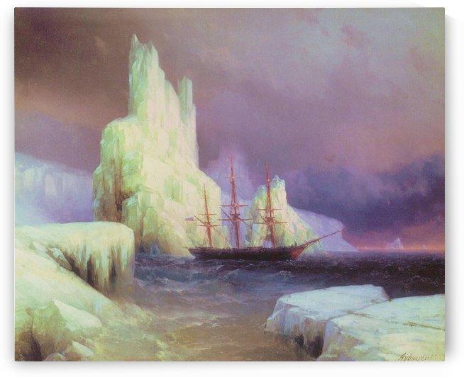 Icebergs in Antarctica by Ivan Aivazovsky