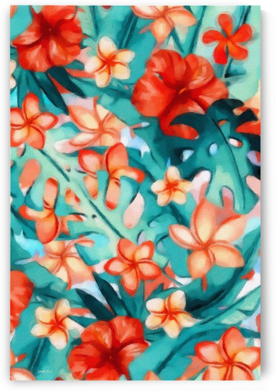 Vibrant Tropical Floral  by Gabriella David