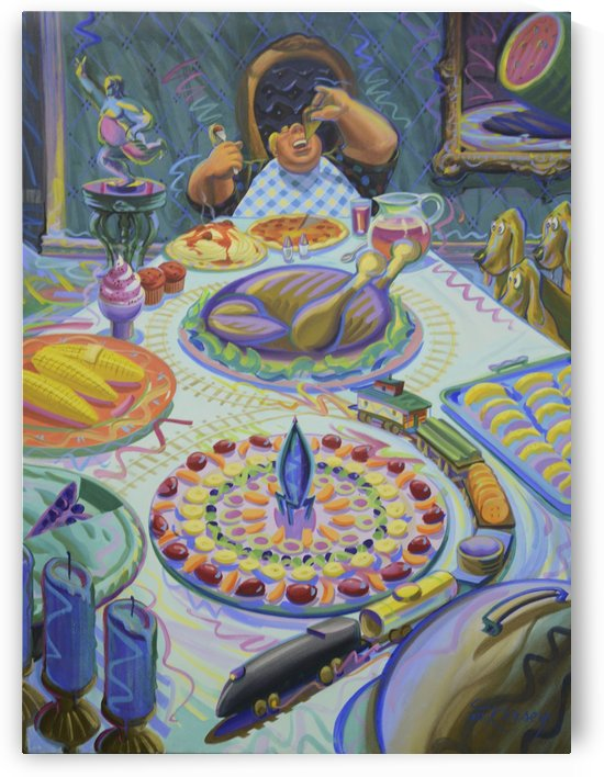 a_feast_for_bob_mr_atomic by Mr  Atomic Art