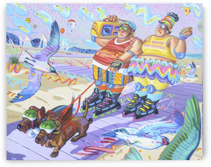 bob_and_trixie_go_rollerblading_mr_atomic by Mr  Atomic Art