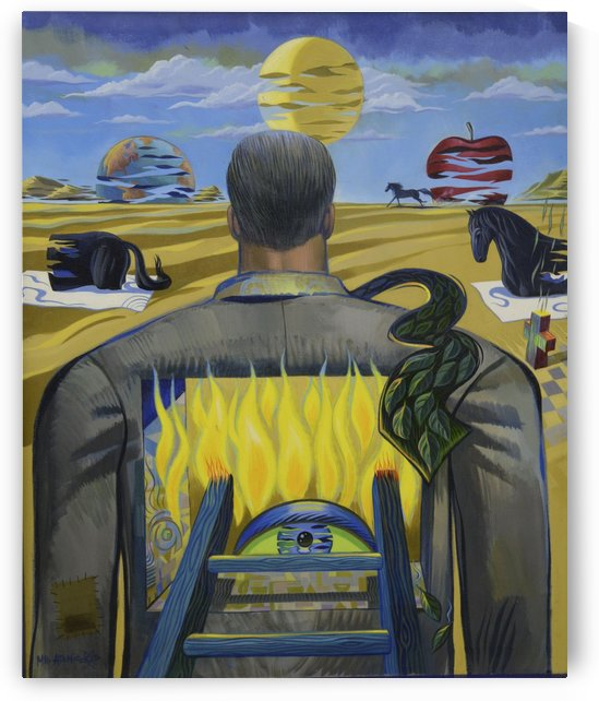 Burning Man by Mr  Atomic Art