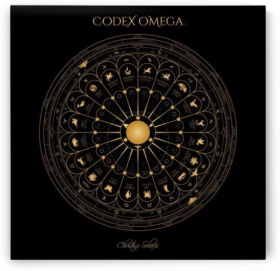 OMEGA CODEX 24 INCH BLACK POSTER by CHRISTINA SOLARIS