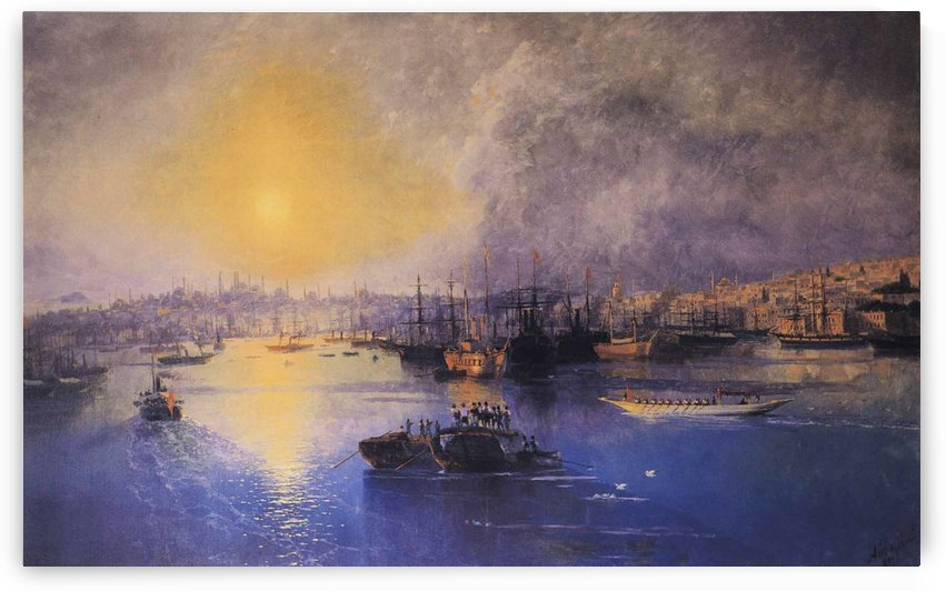 Constantinople Sunset by Ivan Aivazovsky