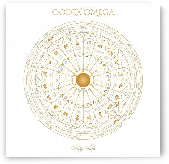 OMEGA CODEX 24 INCH WHITE POSTER by CHRISTINA SOLARIS