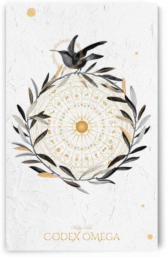 OMEGA CODEX WHITE NIGHTINGALE ART PIECE by CHRISTINA SOLARIS