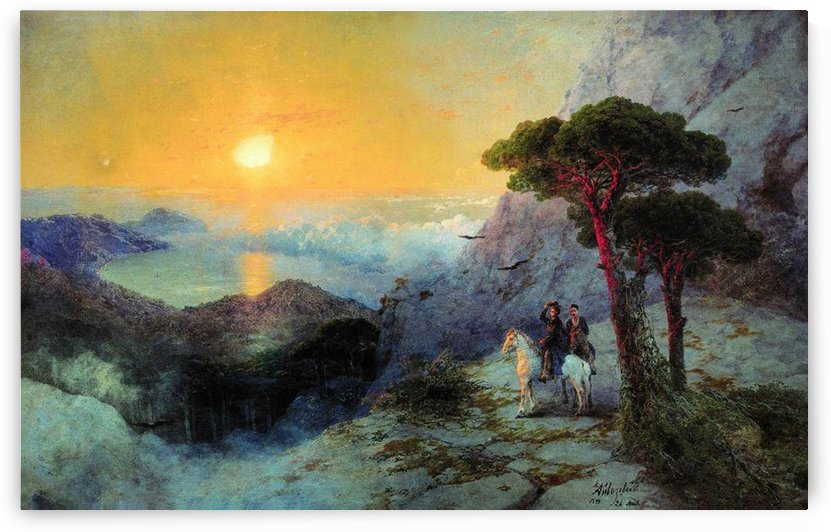On top of the Ai-Petri Mountain at sunrise by Ivan Aivazovsky