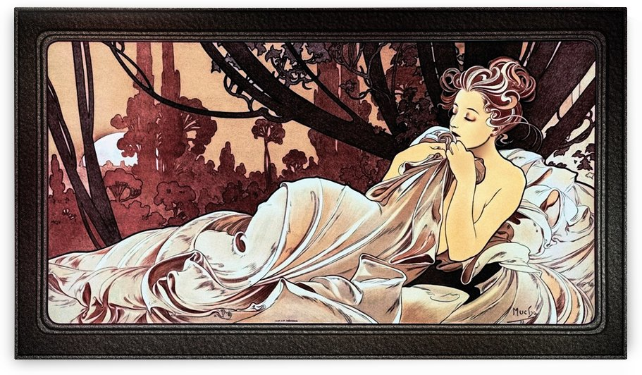 Dusk by Czech Painter Alphonse Mucha by xzendor7
