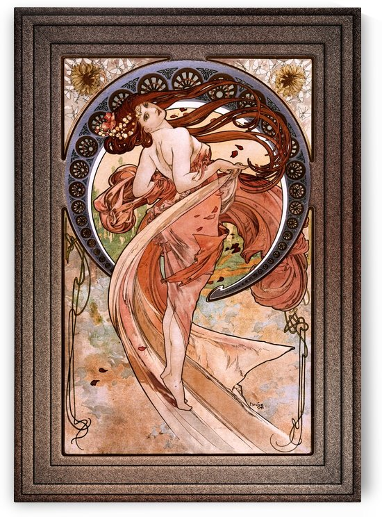 Dance by Alphonse Mucha Old Masters Vintage Art Reproduction by xzendor7
