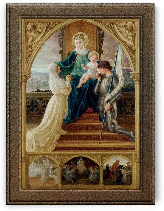 Madonna and Child Seated Between St. Genevieve and Joan Of Arc by Elisabeth Sonrel by xzendor7