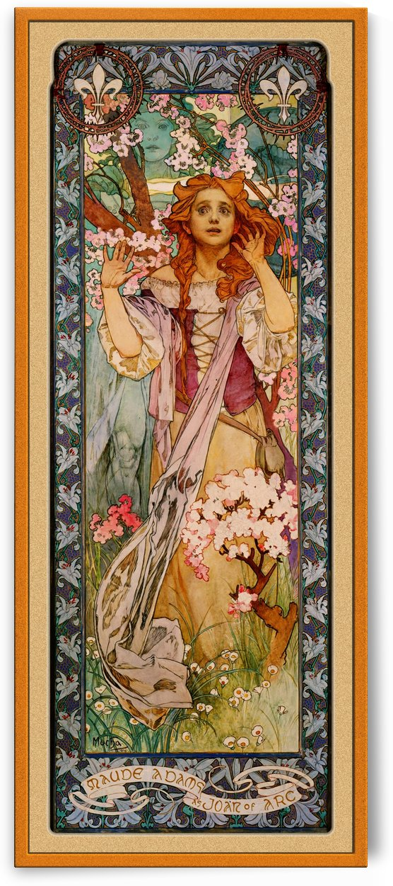 Maude Adams as Joan of Arc by Alphonse Mucha by xzendor7
