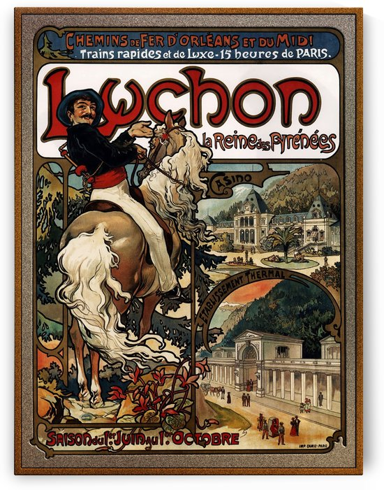 Luchon by Alphonse Mucha by xzendor7