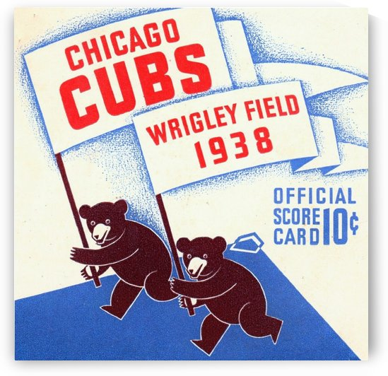 1938 Chicago Cubs Scorecard Wall Art by Row One Brand