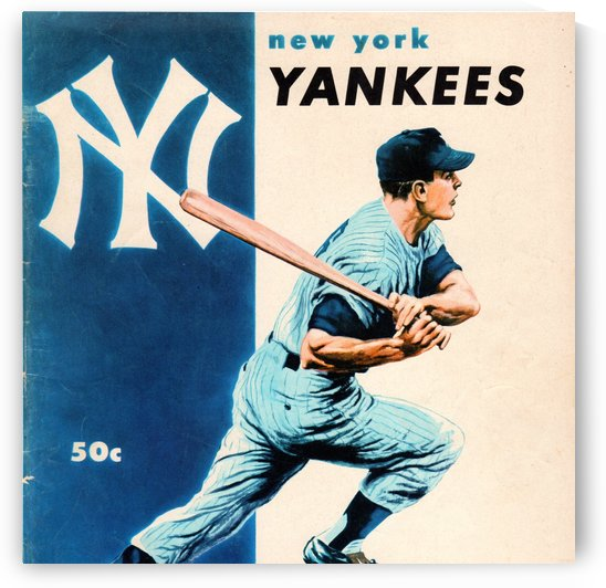 1956 New York Yankees Yearbook Wall Art by Row One Brand