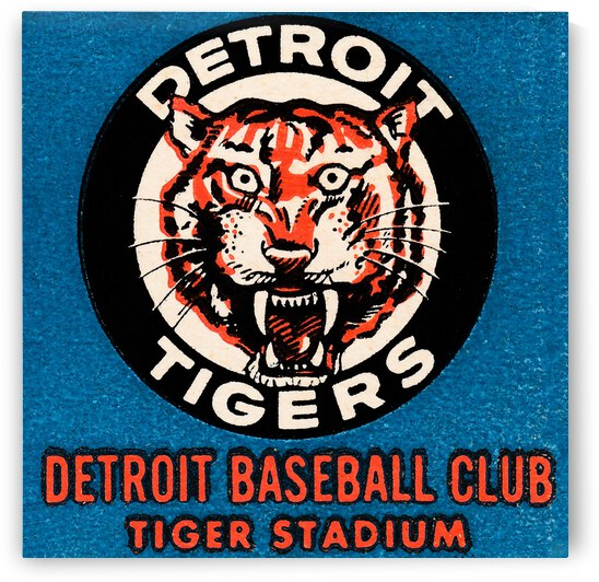 1963 Detroit Tigers Art  by Row One Brand