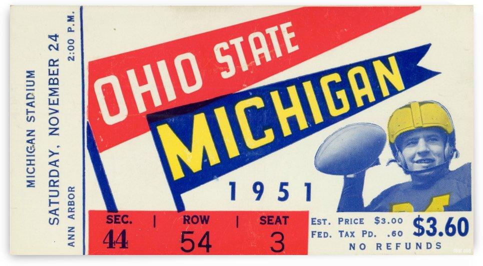 1951 Ohio State vs. Michigan by Row One Brand