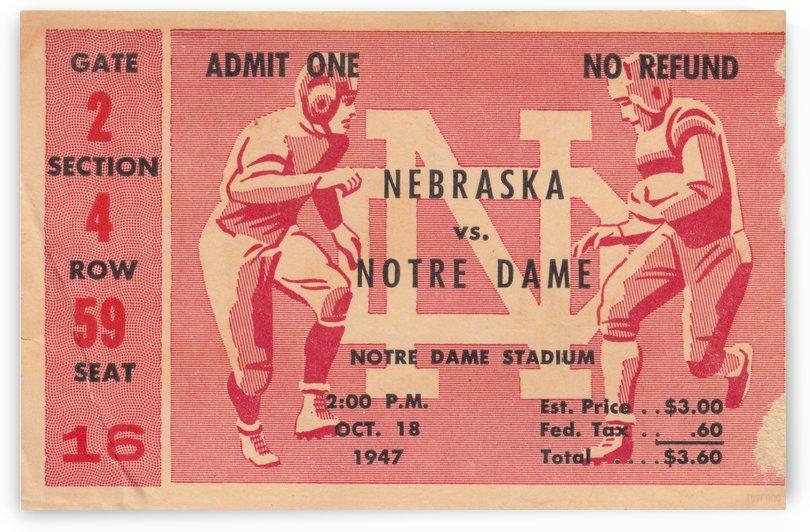 1947 Nebraska vs. Notre Dame by Row One Brand