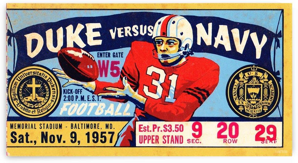 1957 Duke vs. Navy Football Ticket Stub by Row One Brand