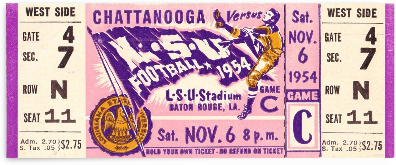 1954 Chattanooga vs. LSU by Row One Brand