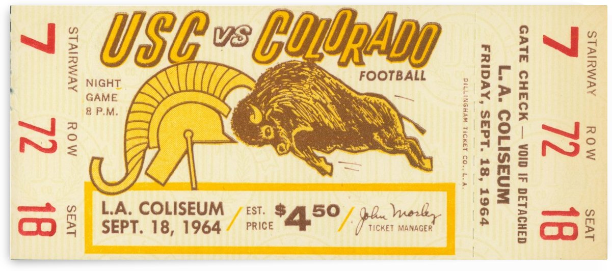 1964 College Football USC vs. Colorado by Row One Brand