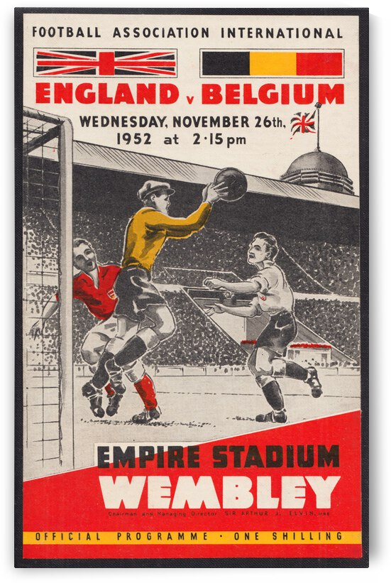 1952 England vs. Belgium by Row One Brand