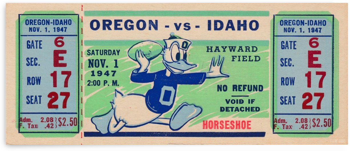 1947 Idaho vs. Oregon Ducks by Row One Brand