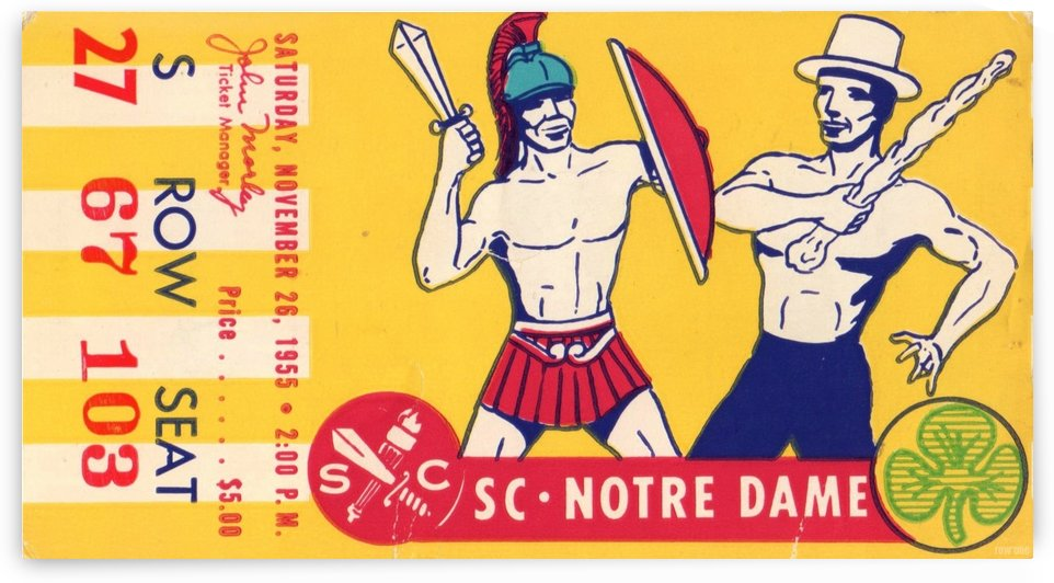 1955 USC vs. Notre Dame by Row One Brand