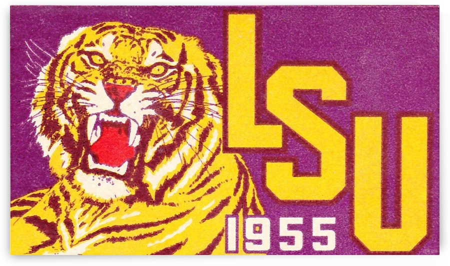 1955 LSU Tigers  by Row One Brand