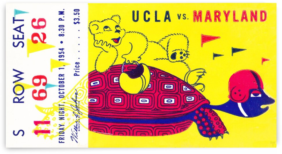 1954 Maryland vs. UCLA  by Row One Brand